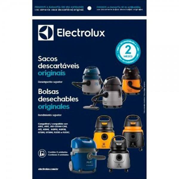 Saco descartável para aspirador de pó Electrolux A10S, A10T, A13, A10N1, AQP10, AQP20, GT200, GT20N, FLEXS, FLEXC, AWD01 e GT20P